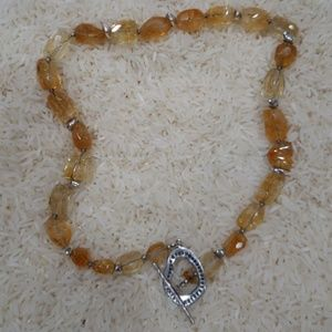 Silpada Yellow Citrine Necklace